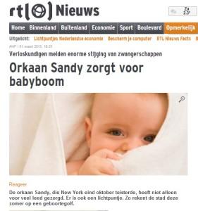rtlnieuws geboortegolf sandy